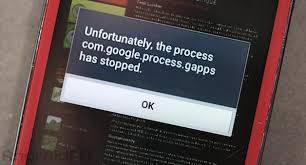 Como Resolver O Processo Com.Google.Process.Gapps Parou