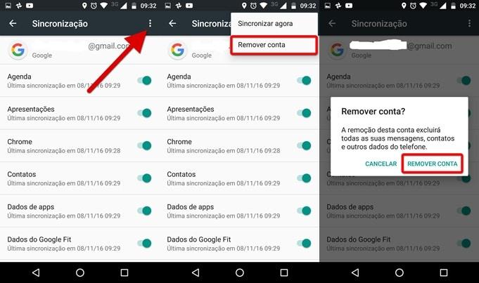 Como remover uma Conta Google do Moto G3